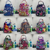 Wholesale insulated lunch bags women resale online - VB Campus Lunch Bag Pastoral ethnic Style Floral Insulated Cooler Bag Portable Waterproof Picnic Food Storage Box Women Students Tote C72901