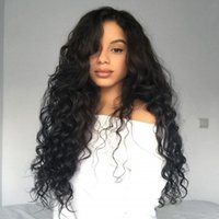 ingrosso spargimento dei capelli brasiliani-Parrucca ondulata brasiliana del merletto dei capelli umani con le parrucche piene del pizzo dei capelli del bambino che spiumano a pizzico liberamente