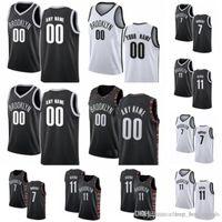 camisetas de baloncesto juvenil al por mayor-Para mujer para hombre Bro juvenil Kevin Durant 7 11 Kyrie Irving Ne 72 Negro Biggie encargo jerseys del baloncesto Negro Blanco A1