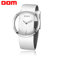 Wholesale unique girls watch resale online - White Watches Women Girl Luxury Fashion Casual Simple Quartz Unique Stylish Hollow skeleton Watches Leather Sport Lady Wristwatches Gift