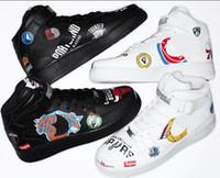 spor ayakkabıları adı toptan satış-Sıcak satış En kaliteli Üçlü ortak adı Graffiti SUP Kaykay spor ayakkabı unisex paten klasikleri hava sneaker kadın erkek ayakkabı