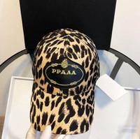 qualität baseball-hüte großhandel-Designer-Hüte Baseballmützen Modische Baseballmütze für Herren Damenmützen Einstellbare Schönheit Stickerei Leopardenmuster Design Hut Hohe Qualität