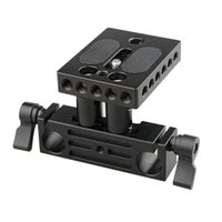 Wholesale focus rail for sale - Group buy Freeshipping Inch Screw Quick Release Plate mm Rail Rod Support System Mount Fr Follow Focus Rig DSLR Camera Baseplate C1237