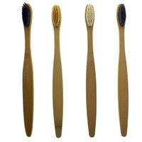 cepilla los dientes al por mayor-Cepillos de dientes de bambú limpiador lingual de los dientes de la dentadura kit de viaje Cepillo de dientes Cepillo de dientes Ambiental por diente Hotel Family EEA581