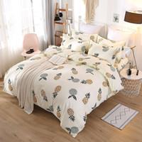 3d bettwäsche-sets großhandel-Luxus Stil Bettwäsche-sets 4 stücke Brief Gedruckt Bettbezug Sets Mode Europa und Amerika Bettlakenbezug Anzug GGA2233