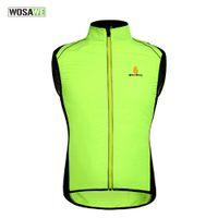 ветровка куртки ветровка оптовых-Wosawe Go Fishing Подавать велосипеды безрукавку задействуя износ велосипед Велоспорт Vest обороны ветровки