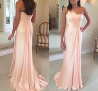 photo classique musulman achat en gros de-2019 robes de soirée sirène élégante une épaule balayage train satin drapé à volants piste mode glamour formelle longue robe de bal