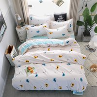 Wholesale twin size beds for kids resale online - Cartoon Chick Bedding Set King Size Simple Lovely White Duvet Cover For Kids Queen Single Full Twin Soft Bed Cover with Pillowcase