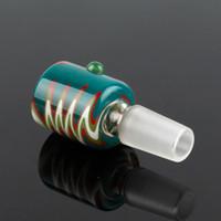 ingrosso parrucca di fumo-I più venduti Scodella di vetro Scaldacollo per parrucca 14mm 18 mm Scaldacollo per bong