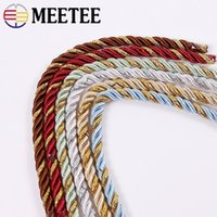 Wholesale three strand resale online - Meetee meters mm Polyester Twisted Cord Color Three Strands Rope Hand woven DIY Clothing Sofa Curtain Decoration Sewing CD002