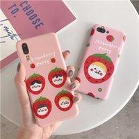 celulares rosa à venda venda por atacado-Rosa morango telefone celular case para iphonex xs max xr 6/7/8 além de telefone capa IMD caso de telefone celular sujeira-resistente para venda