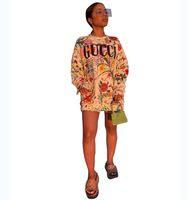 толстовки с капюшоном верхняя одежда оптовых-Письмо печатных Толстовки Толстовки Женщины Crew Neck с длинным рукавом футболки женщин рубашки моды осень Пуловер Топы Верхняя одежда осень пальто