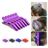 ingrosso cura dei blocchi di colore-4 colori di alta qualità professionale parrucchiere clip di sezionamento morsetti artiglio coccodrillo manopole per parrucchiere (1 lotto / 10 pezzi))