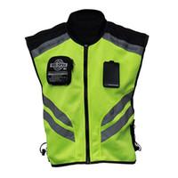 Wholesale motorcycle safety vest reflective for sale - Group buy Sports Motorcycle Reflective Vest High Visibility Fluorescent Riding Safety Vest Racing Sleeveless Jacket Moto Gear XXXL