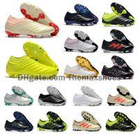 zapatos ag al por mayor-2019 New Mens Copa 19+ 19.1 FG AG 19 + x 19 Hot Slip-On Champagne Solar Red Fútbol Fútbol Zapatos Botas Scarpe Calcio Botines baratos Tamaño 39-45