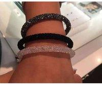 nueva pulsera swarovski al por mayor-Nueva moda pulseras de cristal completo brazaletes pulseras de brazalete de amistad para mujeres cristal de Swarovski joyería de fiesta de boda regalo de Navidad