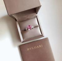 hermoso anillo nuevo al por mayor-Diseñador New High Qulity Styles Mixto TAMAÑOS de plata encanto de la manera Hermosa linda piedra anillo de bodas joyería