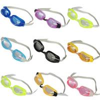 natação óculos nariz venda por atacado-Óculos de natação de alta definição óculos de treinamento para crianças um conjunto com tampão + clipe nariz + óculos de mergulho ajustável LJJZ608