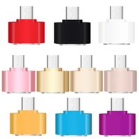 Wholesale female cables resale online - Mini Micro USB pin to Female USB Port OTG Adapter Data Sync Charge for smart phone mobile phone Smartphone Tab U Disk