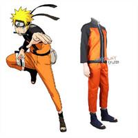 dibujos animados japoneses para adultos al por mayor-Disfraz de cosplay Disfraces de cosplay Traje de anime para hombre Trajes de espectáculo Disfraces de dibujos animados japoneses Naruto Coat Top Pants Adultos