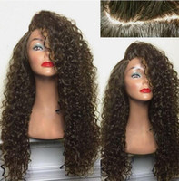 ingrosso parrucca riccia naturale bionda-2019 parrucca sintetica per capelli riccia naturale per donna parrucche sintetiche per donna