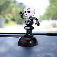 Wholesale solar swing for sale - Group buy Solar Dance Halloween Swing Car Decoration Creative Black White Skull Car Interior Home Decoration Swing Automaticly Under Light