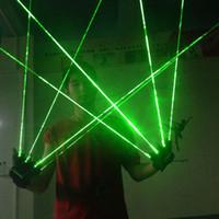 barras de luz de estágio led venda por atacado-1 Pcs Luvas De Laser Verde Dança Stage Show Light Com 1/2/3/4/5 pcs lasers de luz LED para DJ Club / Party / Bars