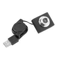 Wholesale webcam camera hot resale online - High Quality Mini USB M Retractable Clip WebCam Web Camera for Laptop PC Computer Hot Promotion