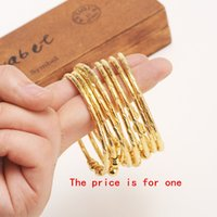pulseiras de pulseira de ouro africano venda por atacado-Moda Jóias Bangles Bangrui Atacado tamanho fixo ouro Dubai bangles22k cor do ouro etíope pulseira Africano jóias mulheres