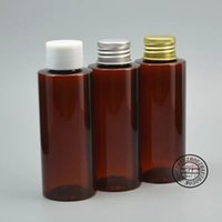 Wholesale vial lid resale online - ml brown cosmetic packing bottle travel set plastic bottle hotel vial PET Sample container pc with lid
