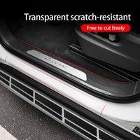 autotüren streifen großhandel-Car Styling Autotür Antikollisionsstreifen Aufkleber Türkantenschutz Transparent Unsichtbares Autozubehör