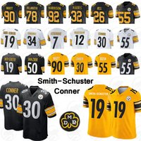 t parches al por mayor-NCAA 55 arbusto de Pittsburgh Steeler camiseta 50 Shazier 7 Roethlisberger Juju 19 Smith-Schuster T. J. 90 Watt 30 Conner UNIVERSIDAD 2019 PARCHE