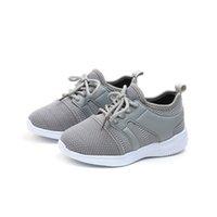 red de chicos negros al por mayor-Zapatos 2019 cuatro estaciones netas de moda transpirable Negro Gris ocio zapatos para niñas niños Zapatos para niños