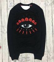 reine augen großhandel-Stickereitigerkopfstrickjacke-Paris-Marken-reine Baumwolllanghülse Oansatz Pulloverfrottee-Überbrückeraugen sweatershirts freies Verschiffen