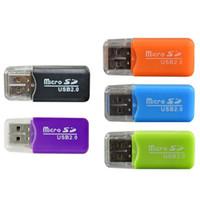 china kleinste telefone großhandel-Engagierter Großhandelshandy-Speicherkartenleser TF-Kartenleser Kleiner Mehrzweck-Hochgeschwindigkeits-USB-SD-Kartenleser