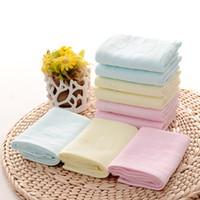 neugeborenes baby-baumwolltuch großhandel-Weiche baumwolle baby bad towel fütterungstuch tuch platz gesicht kleine handtuch infant neugeborenen kinder handtücher 26 cm x 26 cm einfarbig