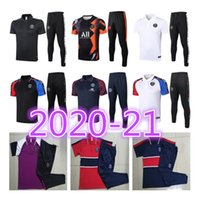 männer trainingshemd groihandel-new2020 2021 Paris Mens Anzug Real Madrid Paris Polohemd Sets Fußballtrainingsnazuginstallationssätze Sets Jacke Mbappe Polohemd survêtement Trainingsanzug