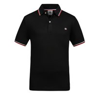 tennis-polo großhandel-London Herren Classic Fred Poloshirt England perry Baumwolle Kurzarm NEU Angekommen 2019 Sommer Tennis Cotton Polos Weiß Schwarz S-XXXL