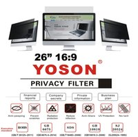 """protector de pantalla del portátil película al por mayor-26 """"Filtro de privacidad Protector de pantalla Anti Peep Films para monitores de escritorio de pantalla ancha 16: 9"""