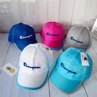 ingrosso ragazzi ragazzi snapback cappelli-Berretti da baseball per bambini Hip Hop lettera Summer Kids Sun Hat mesh ragazzi ragazze snapback Caps 10 pezzi LJJK1690