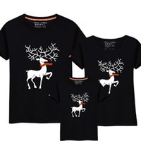 Wholesale dad son clothes resale online - Christmas Mom Daughter Clothes Father Son Matching Clothing Family Look Family Clothing Dad Mom Boy T Shirt Cartoon Milu Deer