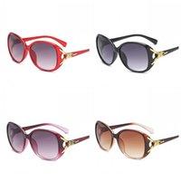 óculos para cabeças grandes venda por atacado-Fox cabeça óculos de sol clássico óculos de sol grande armação de óculos senhoras moda portátil sol shading requintado 3 6xa f1