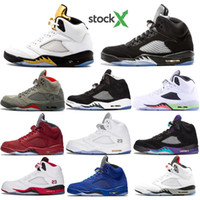 Wholesale grape 5s for sale - Group buy 2020 Newest men Basketball Shoes Suede Olympic metallic Gold S Black Metallic Fire Red white Cement Grape oreo Sports sneaker
