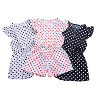 Wholesale siamese clothes for sale - Group buy Girls Summer Siamese Pants Kids Dot Small Flying Sleeve Jumpsuits With PocketKids Designer Clothes Girls Baby Infant Girl Designer Clothes
