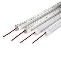 éclairage de bande imperméable mené de bande de barre achat en gros de-50cm 100cm DC12V LED Bar Luminosité élevée 5630 Avec la couverture de PC Lumière LED Étanche LED bande dure Cabinet Lumière Mur Lampe