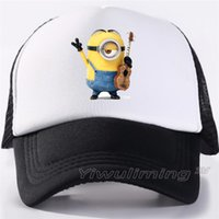 Wholesale pink minions for sale - Group buy Men Women New Summer Trucker Caps minion Cool Summer Black Adult Cool Baseball Mesh Net Trucker Caps Hat for Men Adultbeyonce