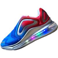 işıklı çocuklar için spor ayakkabıları açtı toptan satış-Çocuklar için Led tasarımcı ayakkabı Aydınlık light up sneakers glow sneakers çocuklar için 25 ila 34 USB şarj Unisex Snakers Rahat Ayakkabılar