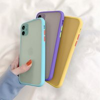 Wholesale Mint Hybrid Simple Matte Bumper Phone Case For iPhone Pro Max XR XS Max S Plus Shockproof Soft TPU Silicone Clear Cover