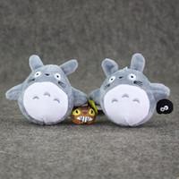 otobüs videosu toptan satış-Toptan-9 cm Iki Stilleri Anime Yeni Totoro Peluş Oyuncaklar Kawaii Totoro BriquetteTotoro ile Otobüs ile Yumuşak Dolması Peluş Kolye Doll