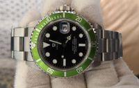 ingrosso uomini orologi-Orologi vintage da uomo automatico 2813 antico orologio da uomo verde nero lega ghiera acciaio 50 ° anniversario 16610LV BP fabbrica orologi da polso da immersione